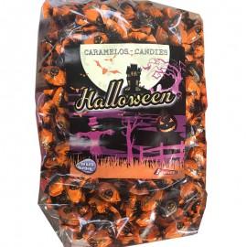 Bonbon Halloween enveloppés noir et orange dessin citrouille