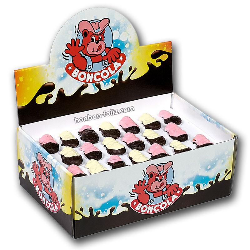 bonbon-paques;chocmod-boncola-160-guimauves-de-paques-mi-enrobees-chocolat-noir