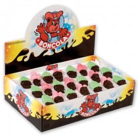 bonbon-paques;chocmod-boncola-160-guimauves-figures-mi-enrobes-noir