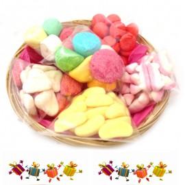 corbeilles-de-bonbons;bonbon-foliz-corbeille-guimauve-assortiment-de-bonbons-moelleux
