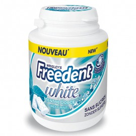 freedent-chewing-gum;wrigley-freedent-white-bottle-menthe-douce