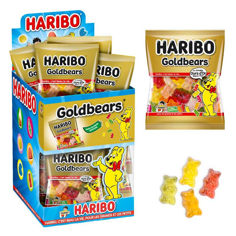 bonbon-gelifie;haribo-goldbears-mini-sachet-haribo