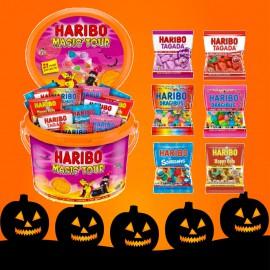 le seau spécial Halloween de bonbons Haribo