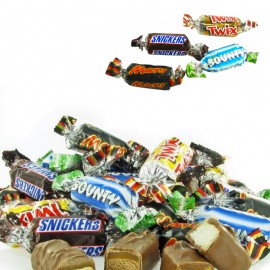 Miniatures MIX  Mars Bounty Snickers Twix  (800 grammes)