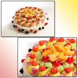 Support plastique Maxi Gâteau Blanc 310mm