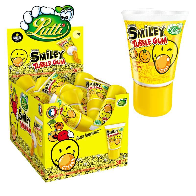 Tubble Gum Smiley Agrumes