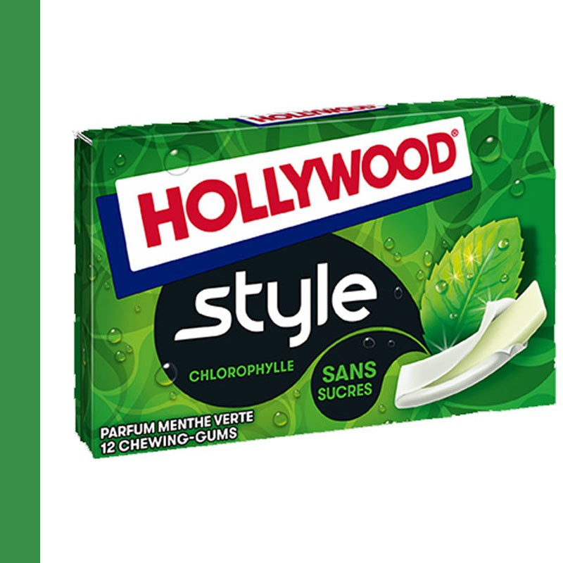 Hollywood style chlorophylle menthe verte
