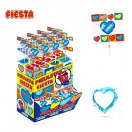 Sucette coeur Fiesta mûre