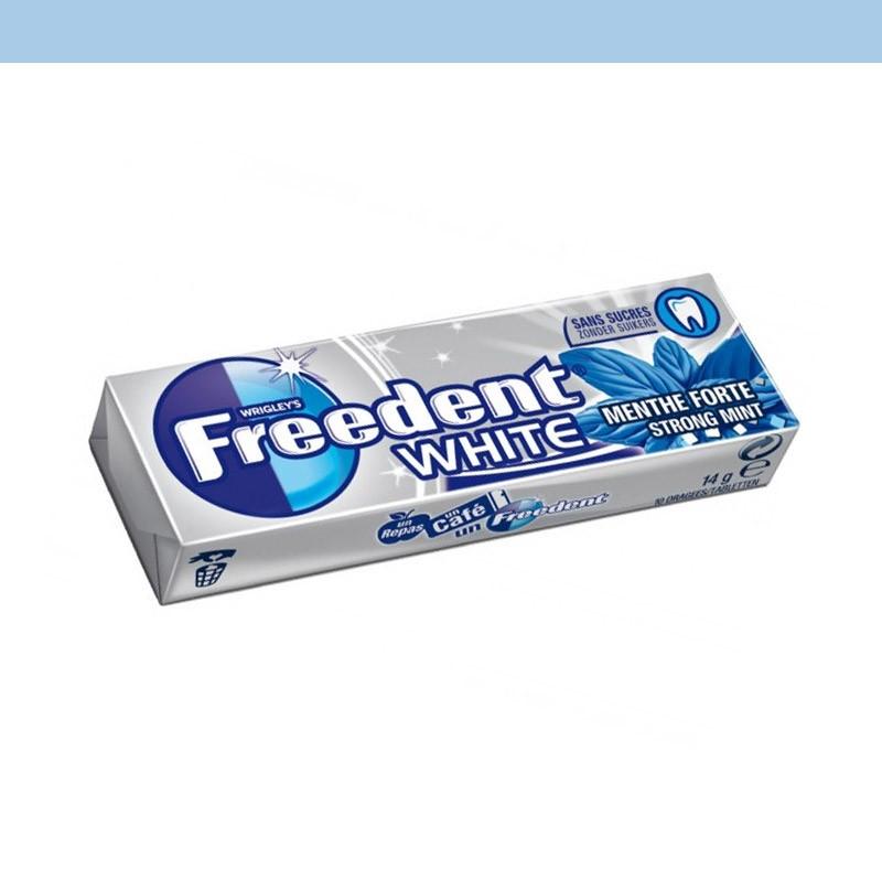 freedent white menthe forte