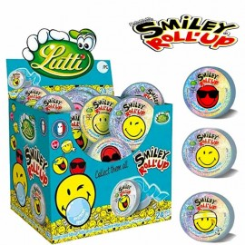 chewing gum roll up smiley