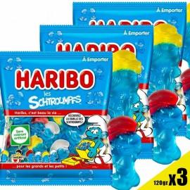 Les Schtroumpfs Haribo Lot 3 sachets 120gr
