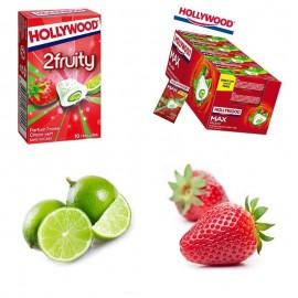 chewing gum fraise citron vert
