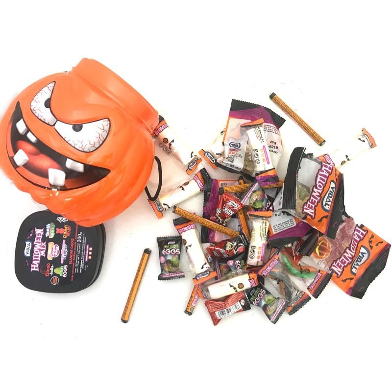 Citrouille Halloween pleine de bonbons