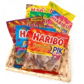 Corbeille de bonbons acidulés Haribo