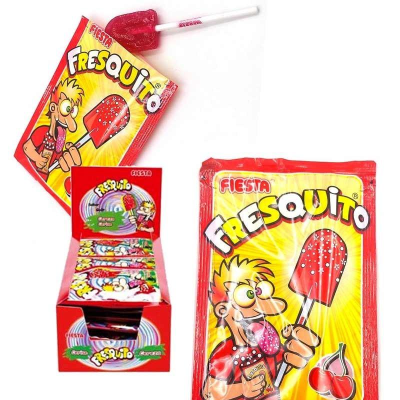 Fresquito Cerise sucette poudre, 20 pièces