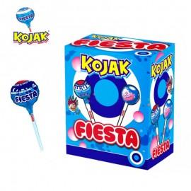 Kojak - Sucette Bubble Gum Colore langue, sachet vrac de 50 pièces