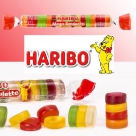 Méga roulette fruits Haribo,20 pièces