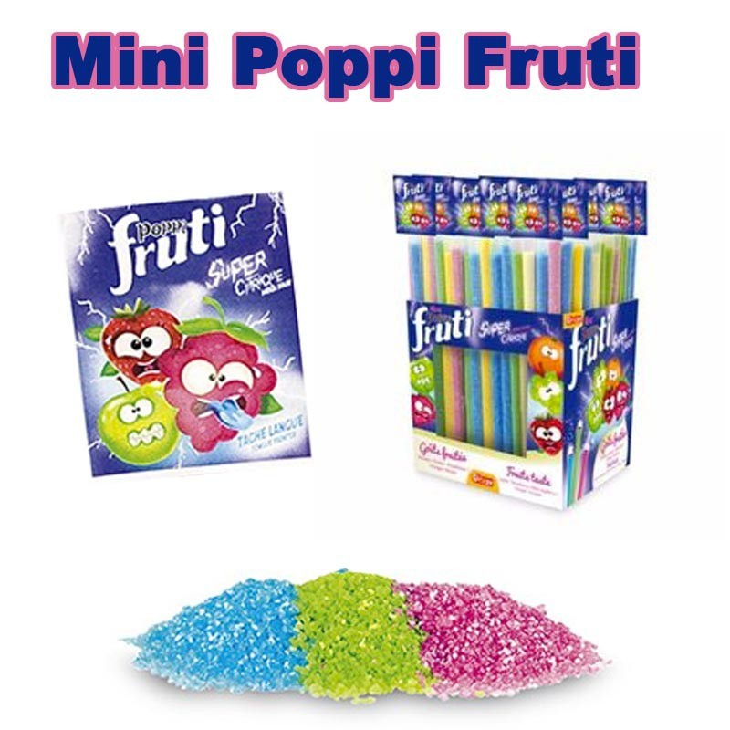 Mini paille Poppi fruiti, 25 pièces