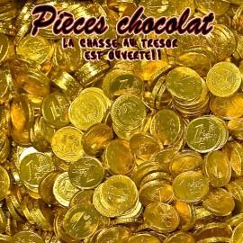 Pièces en chocolat piece monnaie chocolat, 100 gr