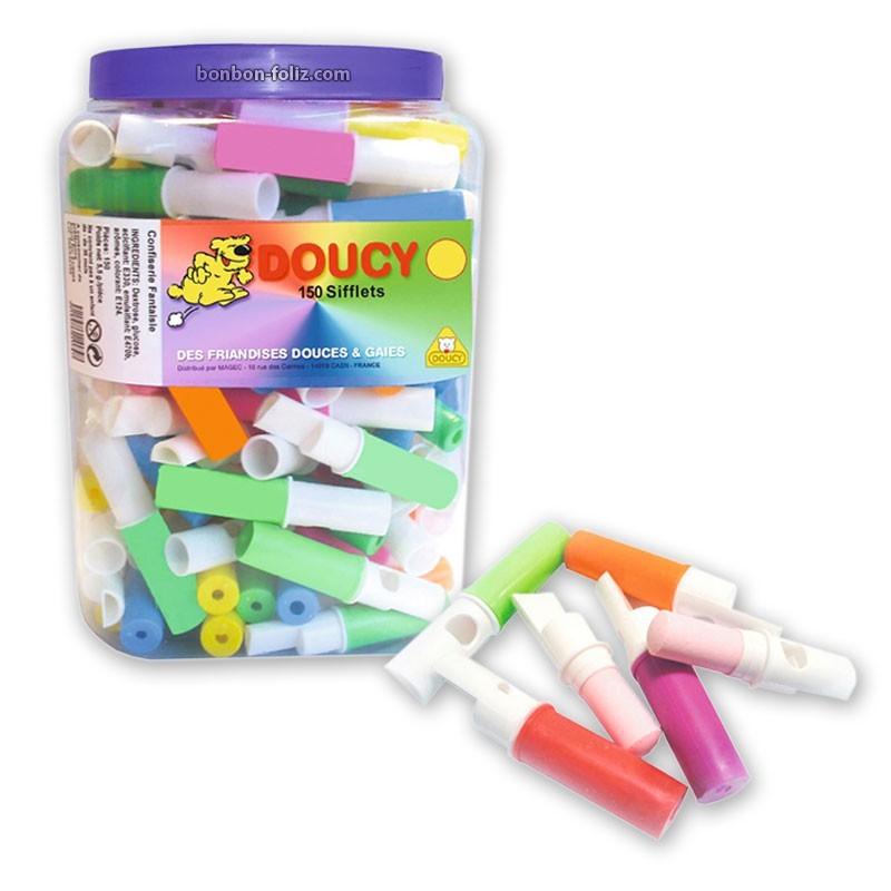 Sifflets colorés, 25 pièces