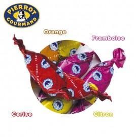 Sucette plate aux fruits Pierrot Gourmand, 60 pièces