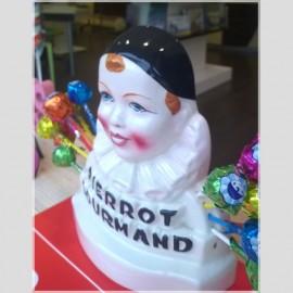 Sucettes Pierrot Gourmand + Buste Pierrot gourmand, 1 pièce