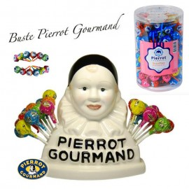 Sucettes Pierrot Gourmand + Buste Pierrot gourmand, 1 pièce