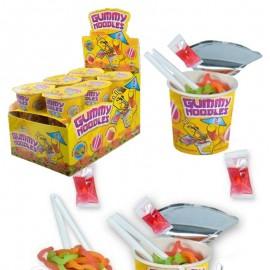 Gummy Noodles bonbon nouille avec baguettes, 12 pièces