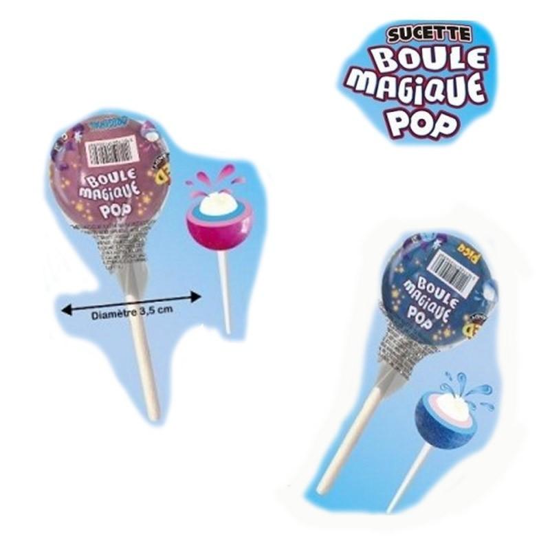 Sucette Boule Magique pop, 60 pièces