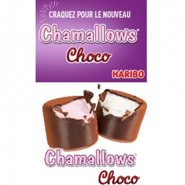 Chamallows Choco Haribo 75gr, 3 pièces