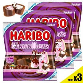 Chamallows Choco Haribo 75gr, 3 pièces
