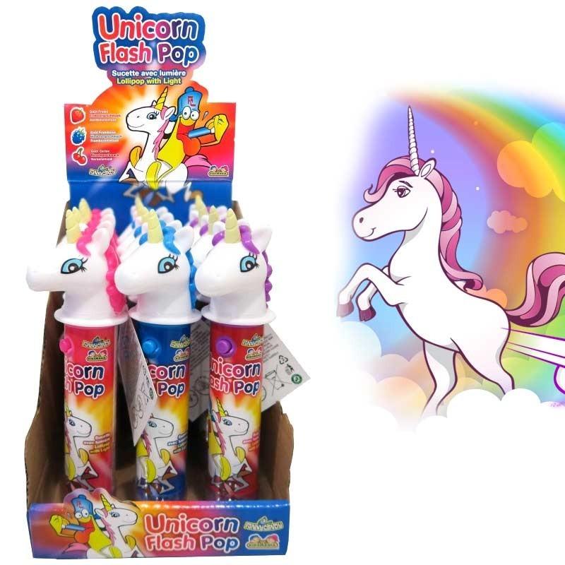 Unicorn flash pop, sucette licorne, 12 pièces