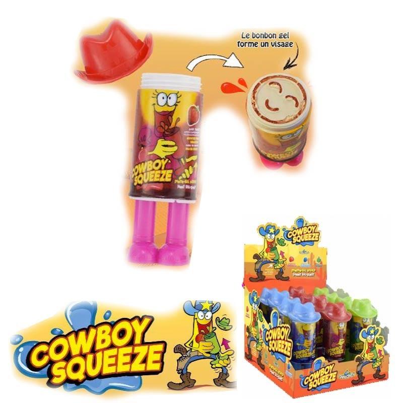 Cowboy Squeeze, bonbon gel, 3 pièces