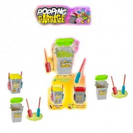 Popping Garbage, bonbon poubelle poudre sucette, 3 pièces