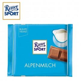 Ritter sport 100gr chocolat au lait des Alpes, 11 pièces