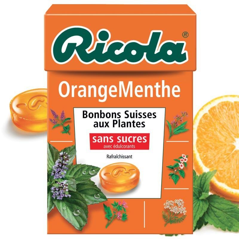 Ricola Orange Menthe, 10 pièces