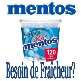 Mini Mentos menthe, 120 pièces