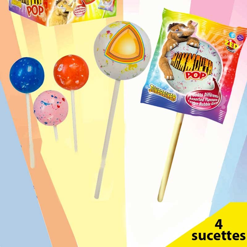 Mammouth Pop sucette Mammouth, 4 pièces